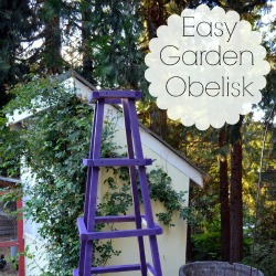 Easy DIY Garden Obelisk