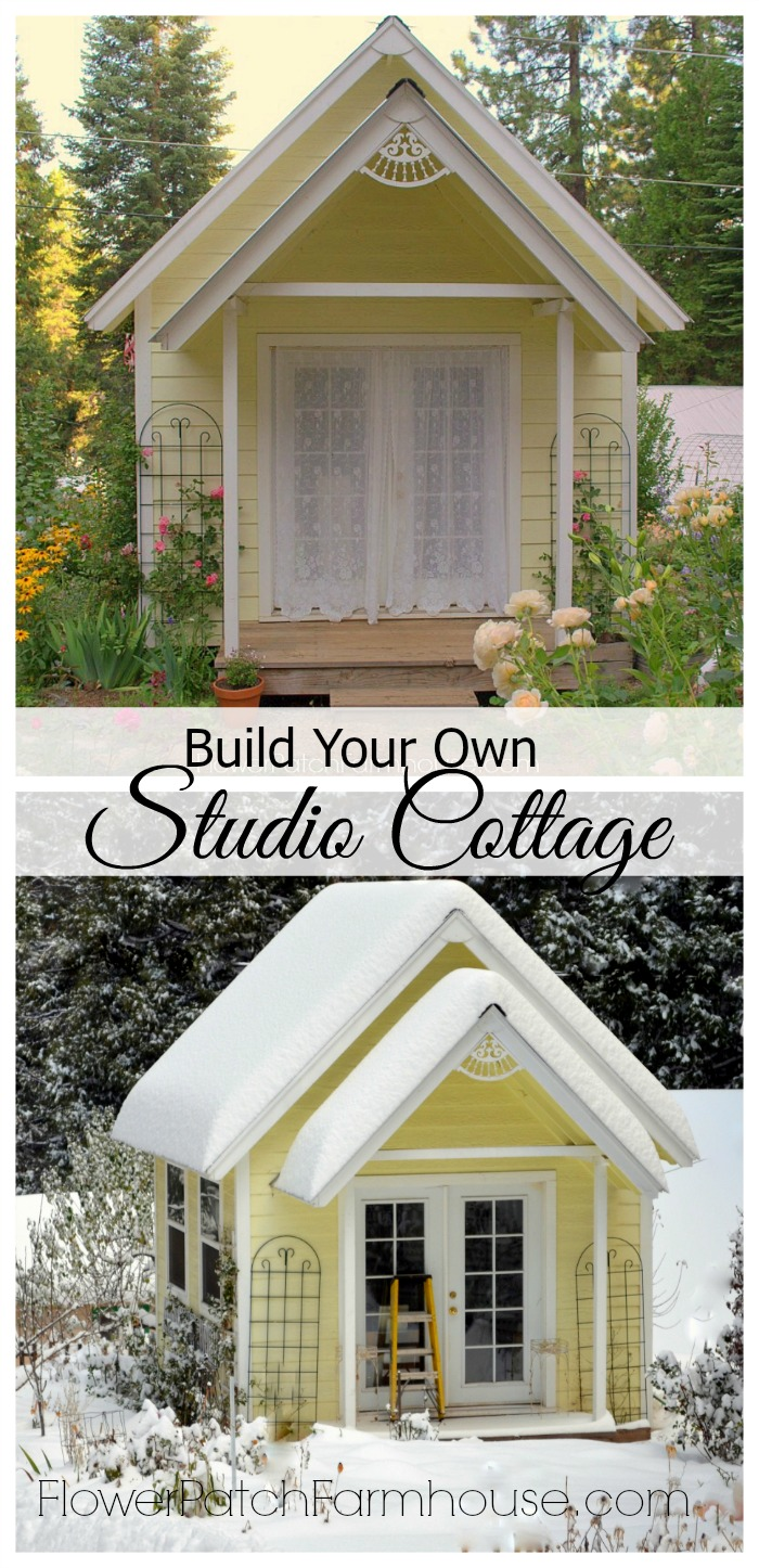Build your own crafting cottage or garden shed flower for Backyard cottage plans