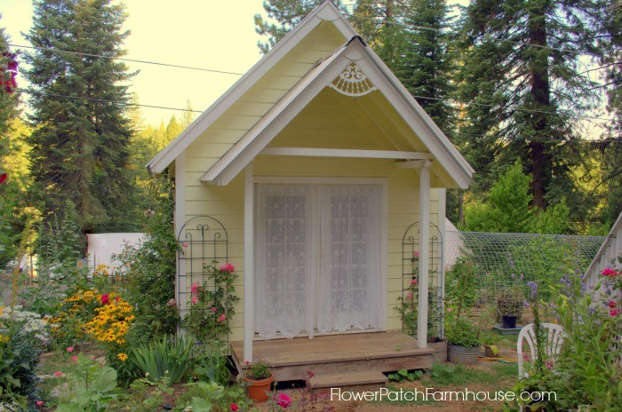 Build your own crafting cottage garden or she shed for Backyard cottage shed