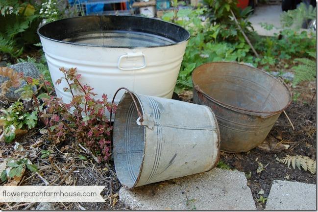 buckets of flowers 1