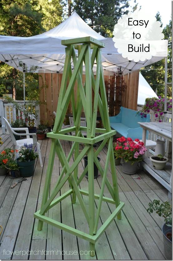 build a wood obelisk