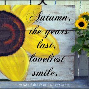 Easy to Paint Sunflower tutorial, FlowerPatchFarmhouse.com