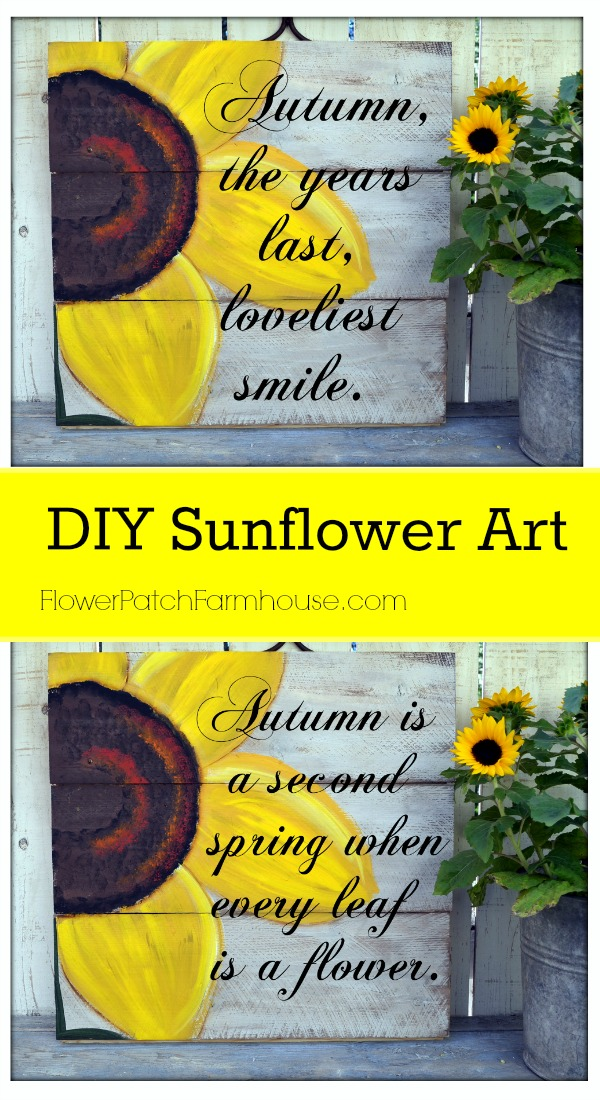 DIY Sunflower Art, FlowerPatchFarmhouse.com