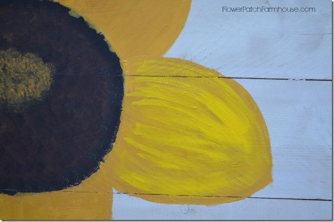 paint a sunflower tutorial 12