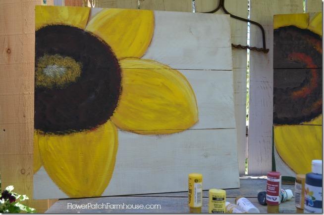 paint a sunflower tutorial 22