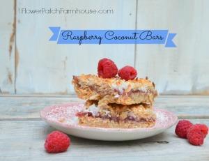 Raspberry Coconut Bars recipe
