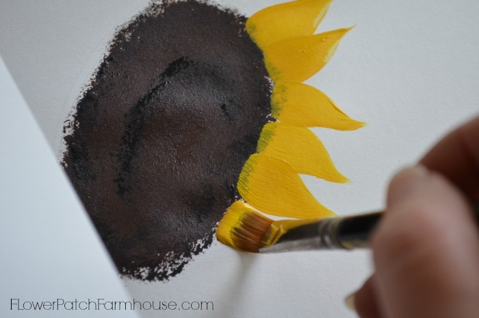 paint sunflower strokes