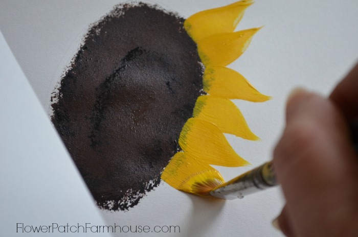 bright sunflower painting