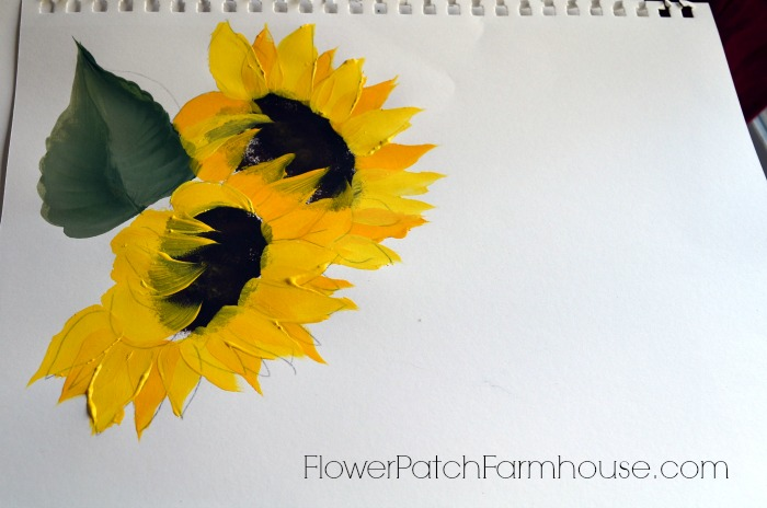 learn to paint a sunflower