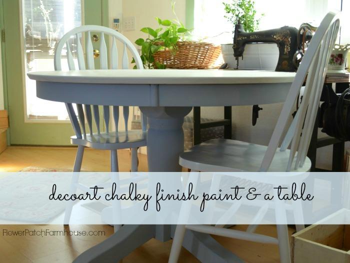 DecoArt Chalky Finish Paint Table