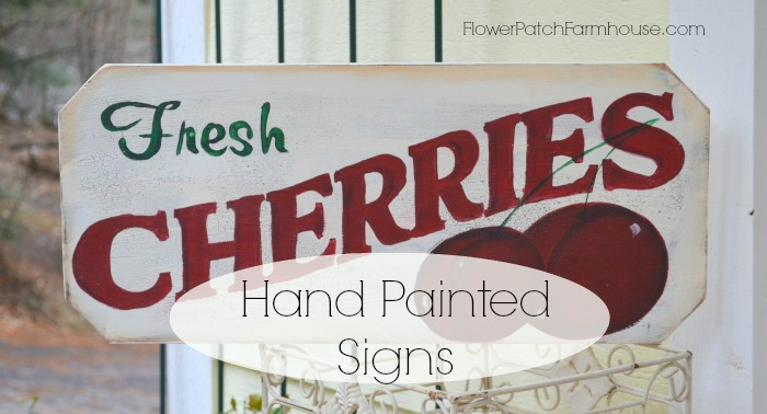 vintage style cherries sign
