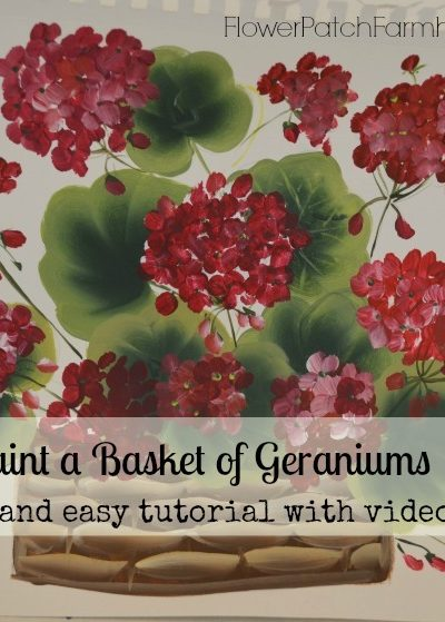 how to paint geraniums