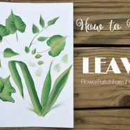 Super Simple How to Paint Leaves