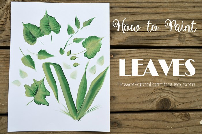 How to paint leaves, one stroke at a time. Decorative painting basics