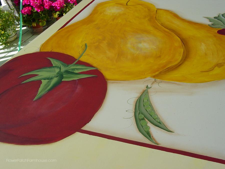 Tuscan Floorcloth painted on linoleum (6 of 7)