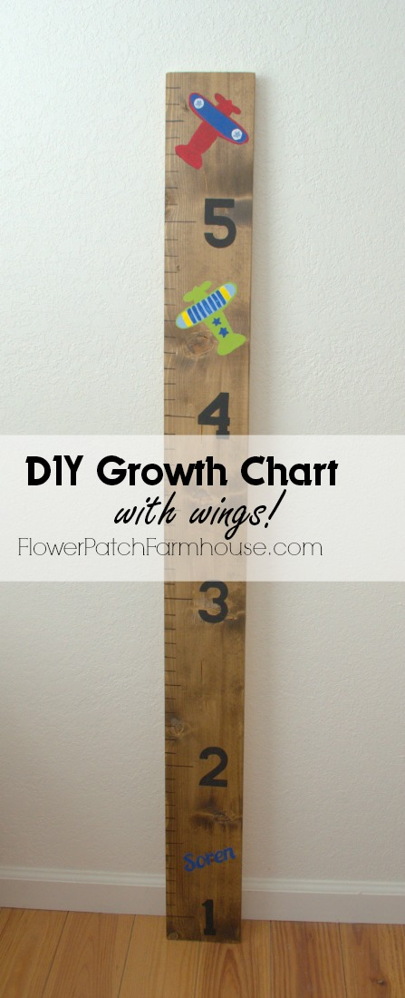 DIY Growth Chart with planes, FlowerPatchFarmhouse.com