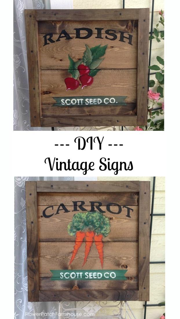 DIY Vintage Signs, FlowerPatchFarmhouse.com