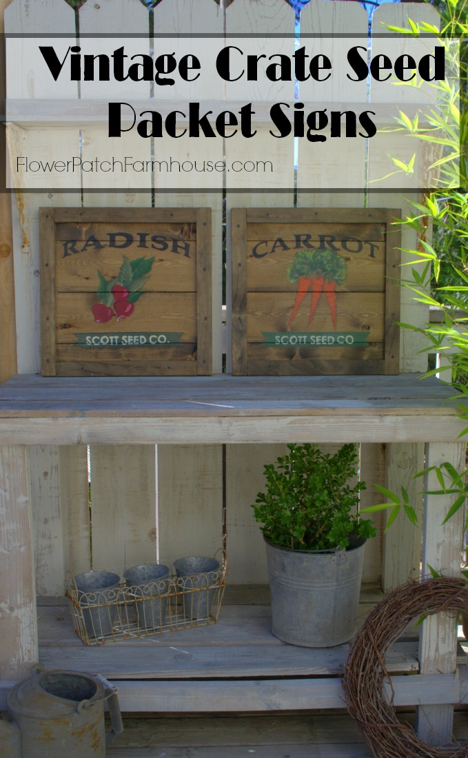 Vintage Crate Seed Packet Signs, FlowerPatchFarmhouse.com