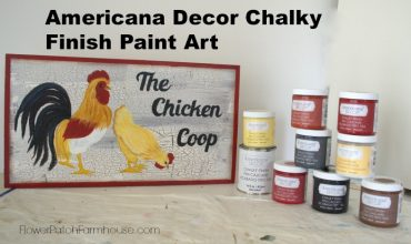 Chicken Art with Chalk Paint
