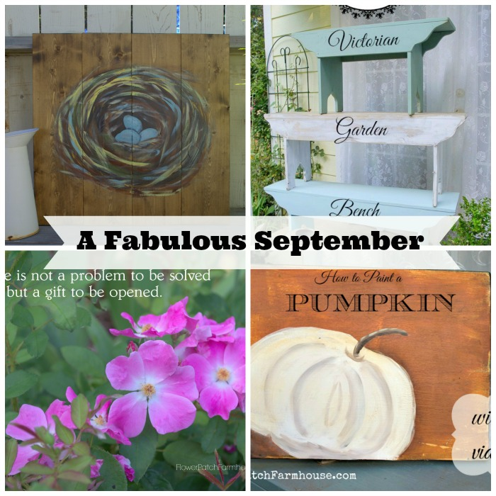 A round up of September posts on FlowerPatchFarmhouse.com