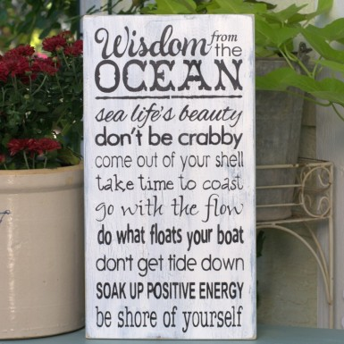 wisdom from the ocean, FlowerPatchFarmhouse.com