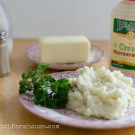 Horseradish Smashed Mashed Potatoes