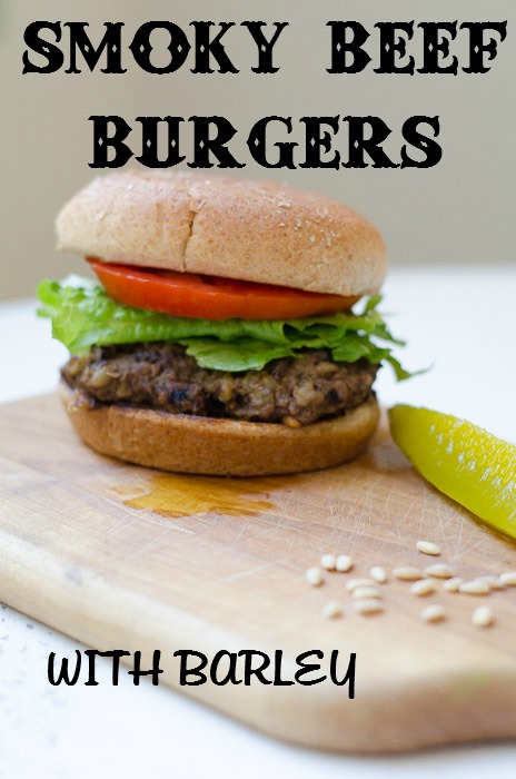 Smoky Beef Burgers full of fabulous flavor, but with a surprise ingredient, FlowerPatchFarmhouse.com