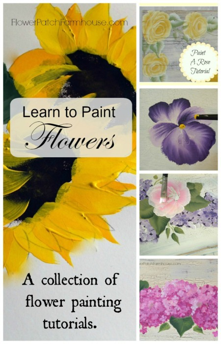 Learn how to paint flowers flower patch farmhouse for Learning to paint and draw