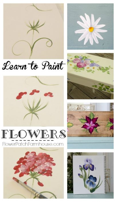 learn how to paint flowers flower patch farmhouse