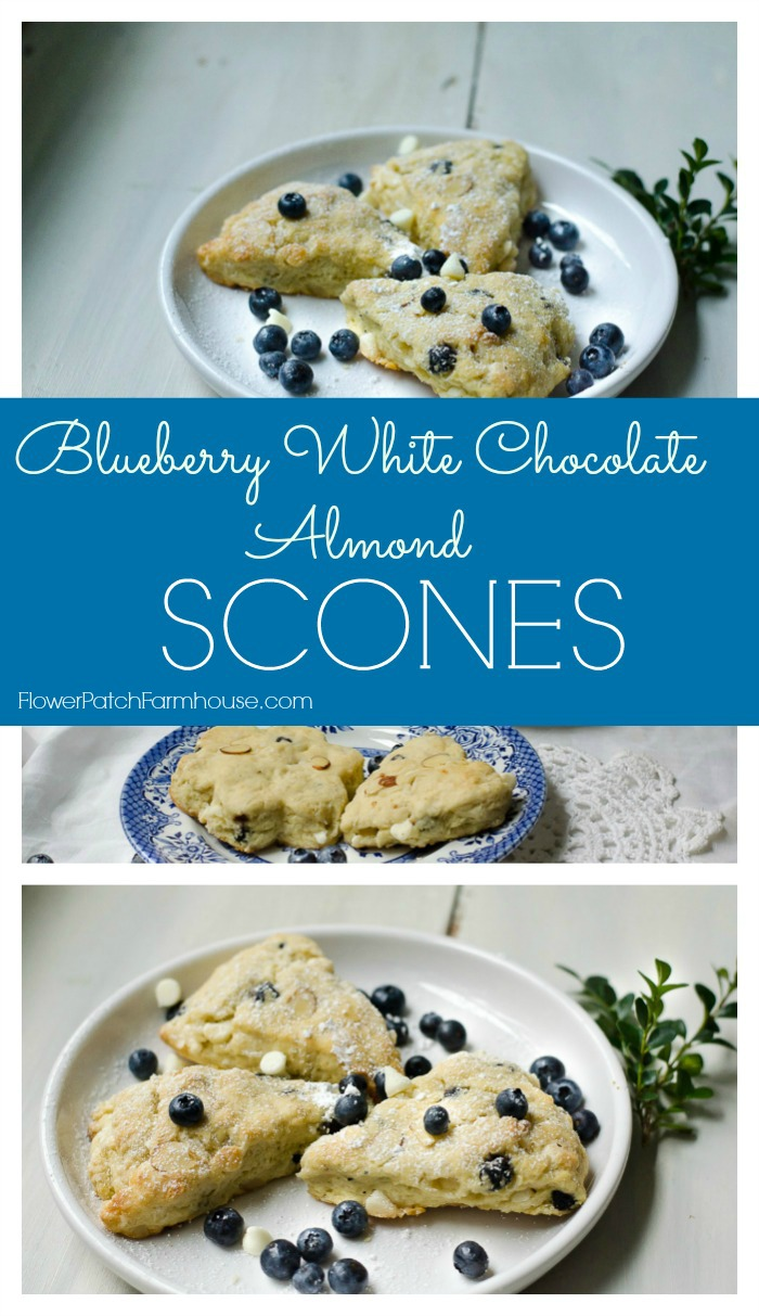 Blueberry-Almond Scones Recipe — Dishmaps