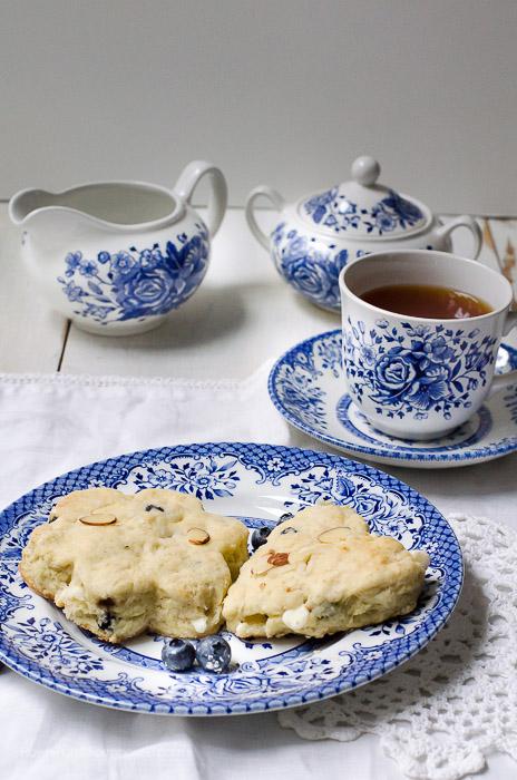 Blueberry White Chocolate Almond Scones, FlowerPatchFarmhouse.com
