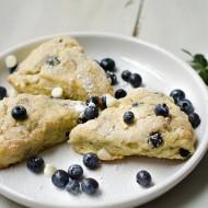 Blueberry White Chocolate Almond Scones