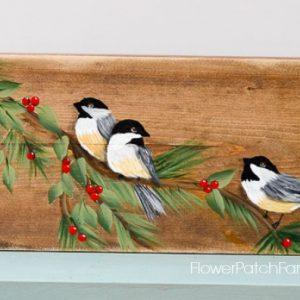 Learn How to Paint a Chickadee Bird, FlowerPatchFarmhouse.com