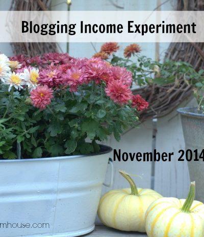 November Blogging Experiment Income Report, FlowerPatchFarmhouse.com