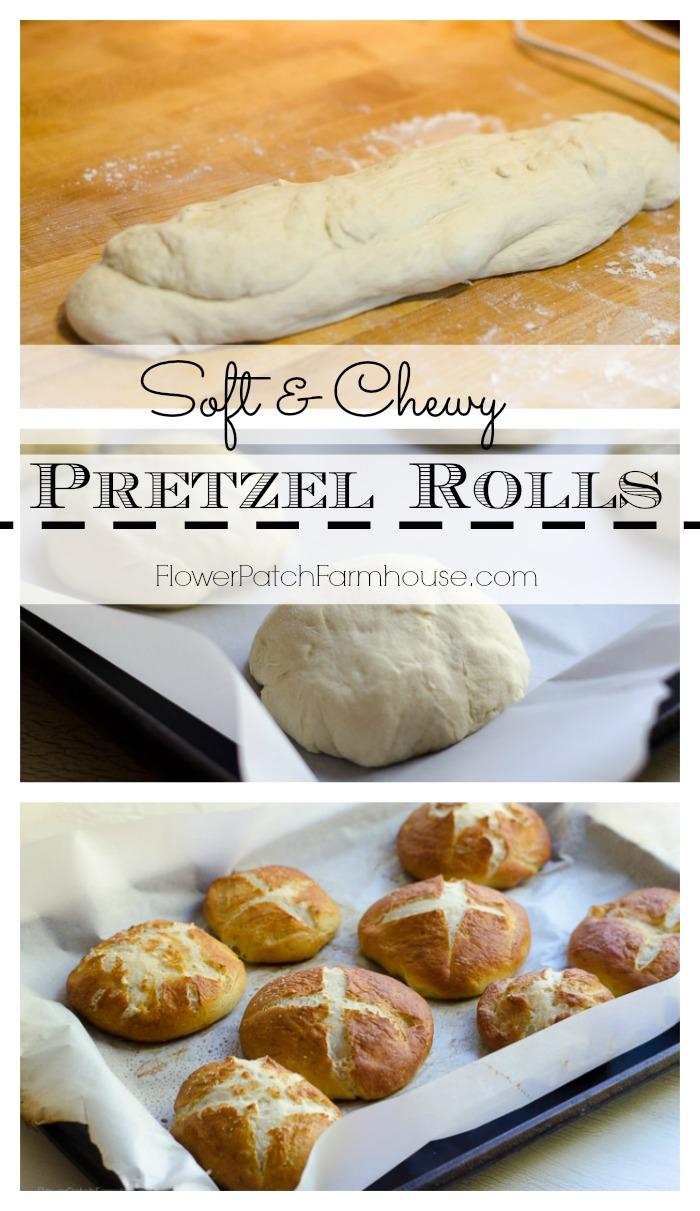 Soft & Chewy Pretzel Rolls, FlowerPatchFarmhouse.com