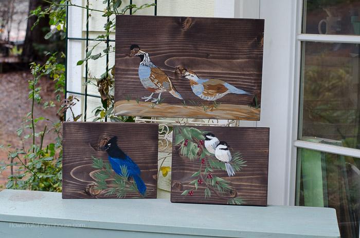 Birds of N. California paintings, FlowerPatchFarmhouse.com