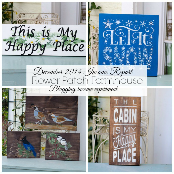 December Income report, blogging experiment, FlowerPatchFarmhouse.com