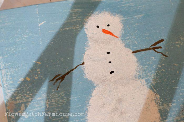 Learn How to Paint a Snowman, FlowerPatchFarmhouse.com