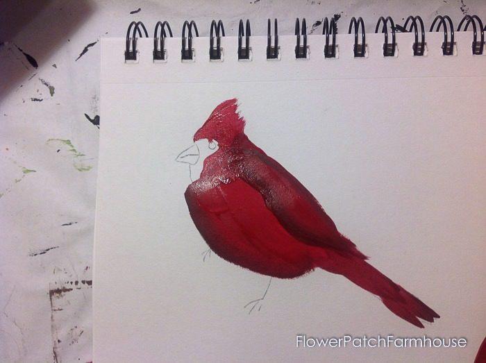 Cardinal painting tutorial, FlowerPatchFarmhouse.com (11 of 15)