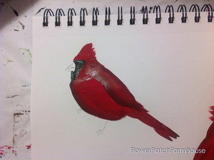 Cardinal painting tutorial, FlowerPatchFarmhouse.com (12 of 15)