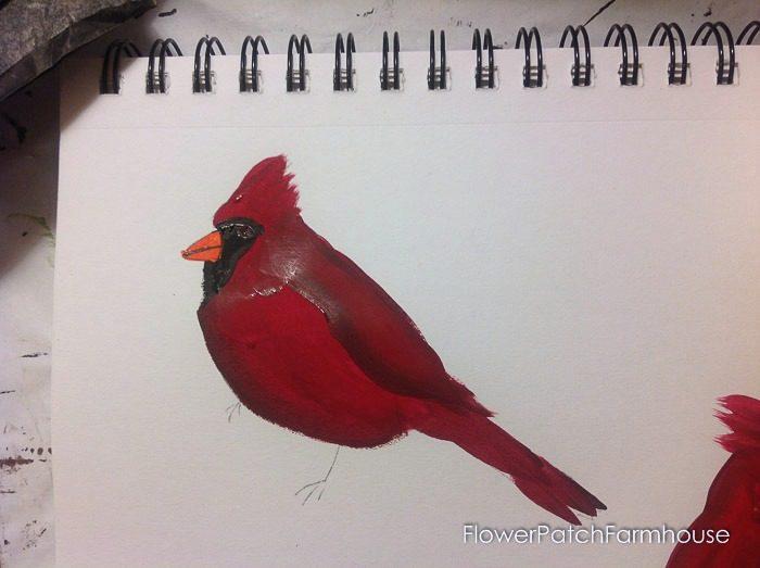 Cardinal painting tutorial, FlowerPatchFarmhouse.com (14 of 15)
