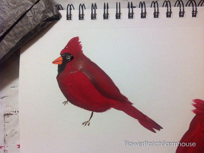 Cardinal painting tutorial, FlowerPatchFarmhouse.com (15 of 15)