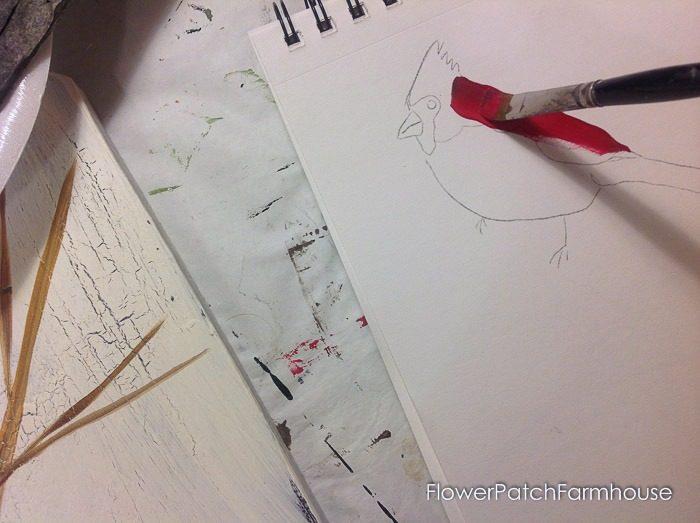 Cardinal painting tutorial, FlowerPatchFarmhouse.com (5 of 15)