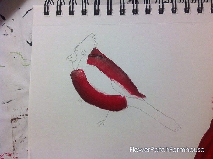 Cardinal painting tutorial, FlowerPatchFarmhouse.com (6 of 15)