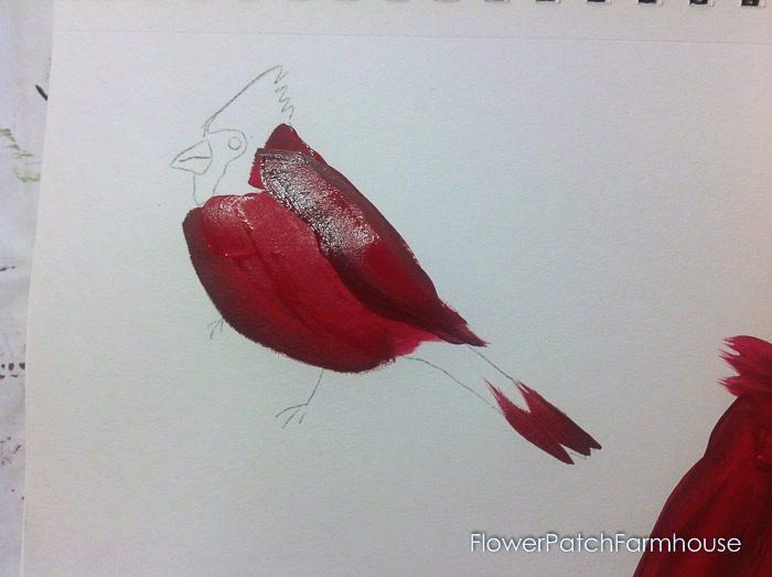Cardinal painting tutorial, FlowerPatchFarmhouse.com (9 of 15)