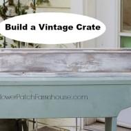 Vintage DIY wood crate