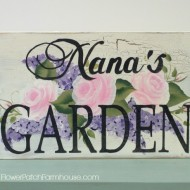 Roses and Lilacs Garden Sign Pattern Packet