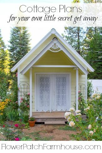 DIY Back yard Cottage or Garden Shed Plans, FlowerPatchFarmhouse.com