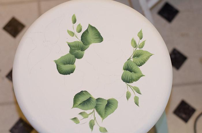 Little green stool makeover, FlowerPatchFarmhouse.com