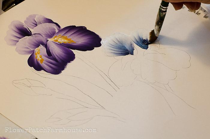 How To Paint Irises Acrylic